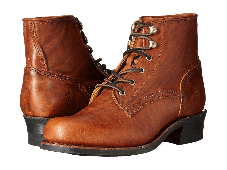 Frye - Engineer Lace Up (Cognac Washed Oiled Vintage) Cowboy Boots