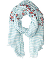 San Diego Hat Company - BSS1396 Cotton Floral Print Scarf w/ Fray Edges