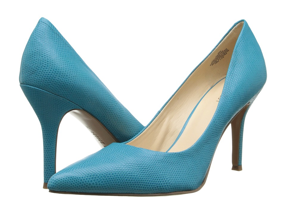 Nine West Flax Turquoise Reptile High Heels