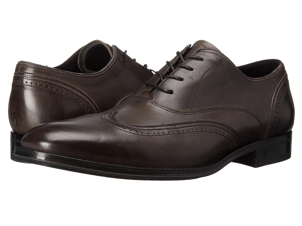 John Varvatos - Travelor Wingtip Lead Mens Shoes $598.00 AT vintagedancer.com