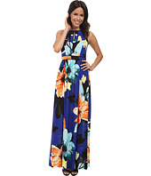 Vince Camuto - Sleeveless Maxi with Piped Keyhole Bodice