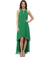 Vince Camuto - Hi-Lo Chiffon Dress with Beaded Neckband