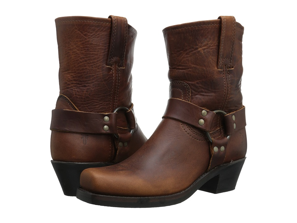 Frye - Harness 8R (Cognac Washed Oiled Vintage) Women's Pull-on Boots