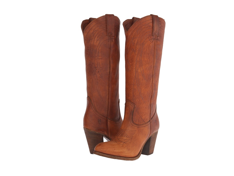 Frye Ilana Pull On (Cognac Washed Oiled Vintage) Cowboy Boots