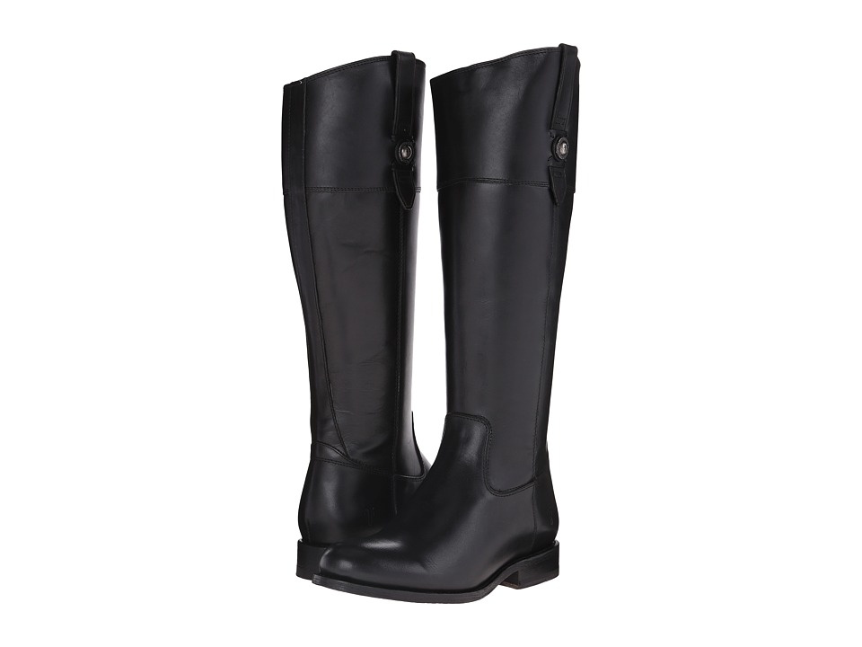 Frye Jayden Button Tall (Black Smooth Vintage Leather) Co...