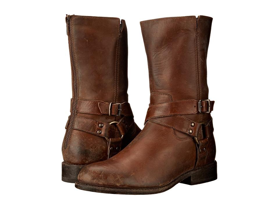 Frye Jayden Harness Zip Whiskey Smooth Stonewash Cowboy Boots