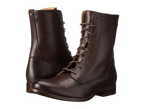 Frye Melissa Lace Short - Dark Grey Smooth Vintage Leather