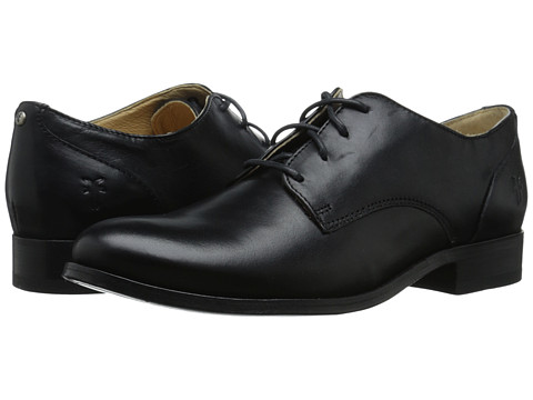 Frye Melissa Oxford - Black Smooth Vintage Leather