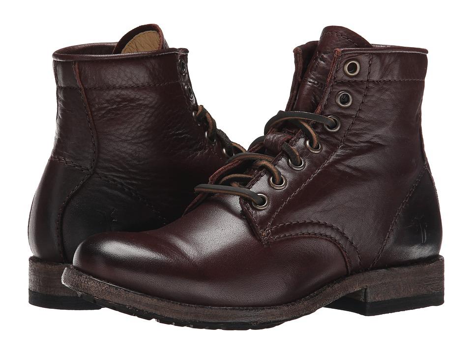Frye Tyler Lace Up (Dark Brown Soft Vintage Leather) Women