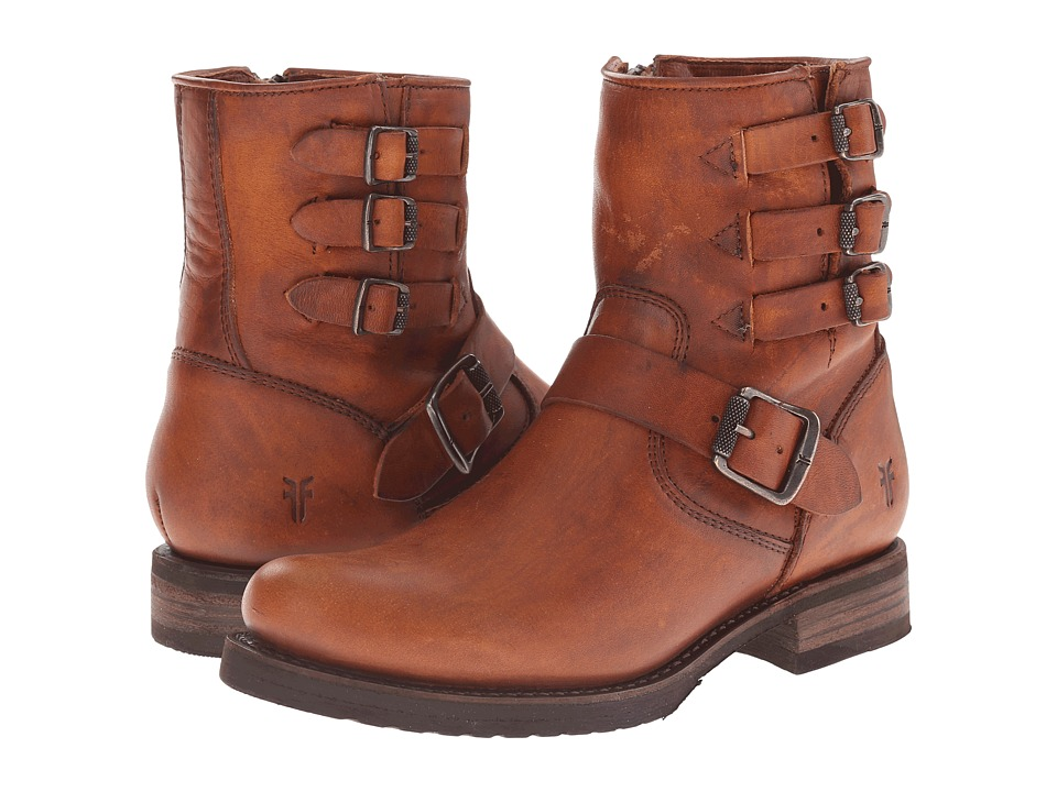 Frye Veronica Belted Short (Cognac Washed Oiled Vintage) Cowboy Boots