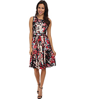 Adrianna Papell - Block Print Pleated Dress