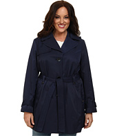 Ellen Tracy - Plus Size Belted Trench