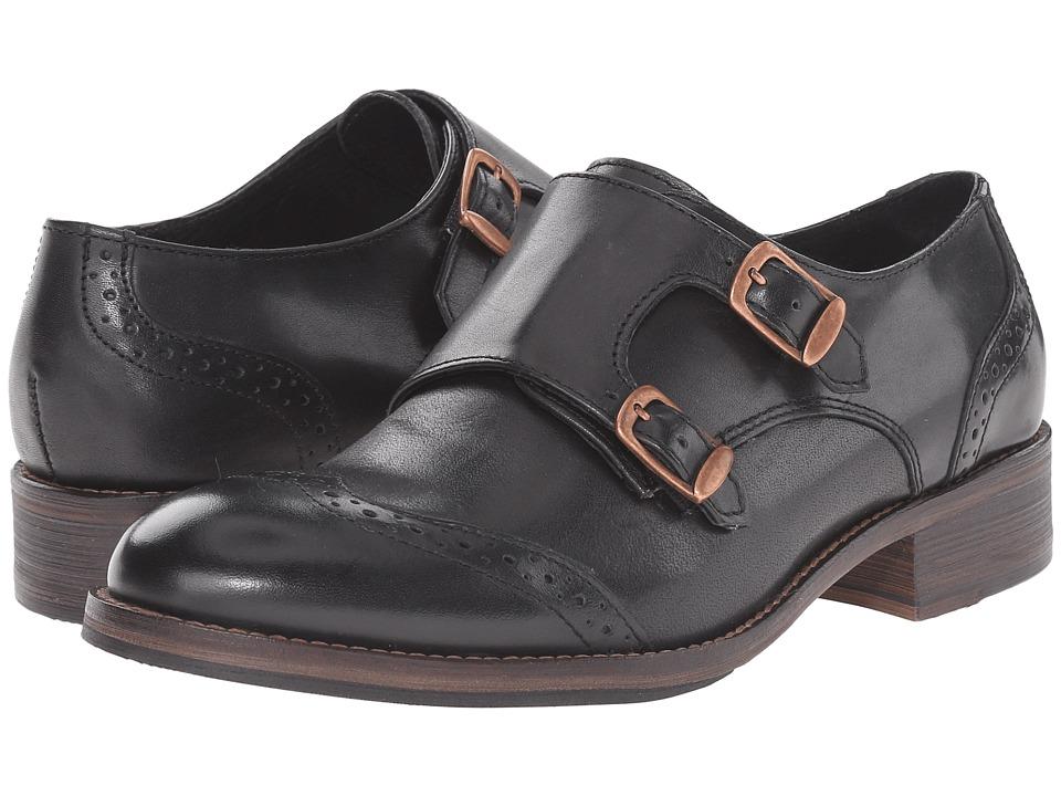 Wolverine Jaden Monk Strap Oxford Black Leather Womens Shoes