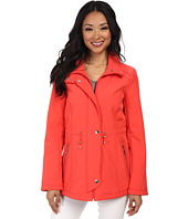 Ellen Tracy - Snap Front Anorak Soft Shell w/ Stand Collar