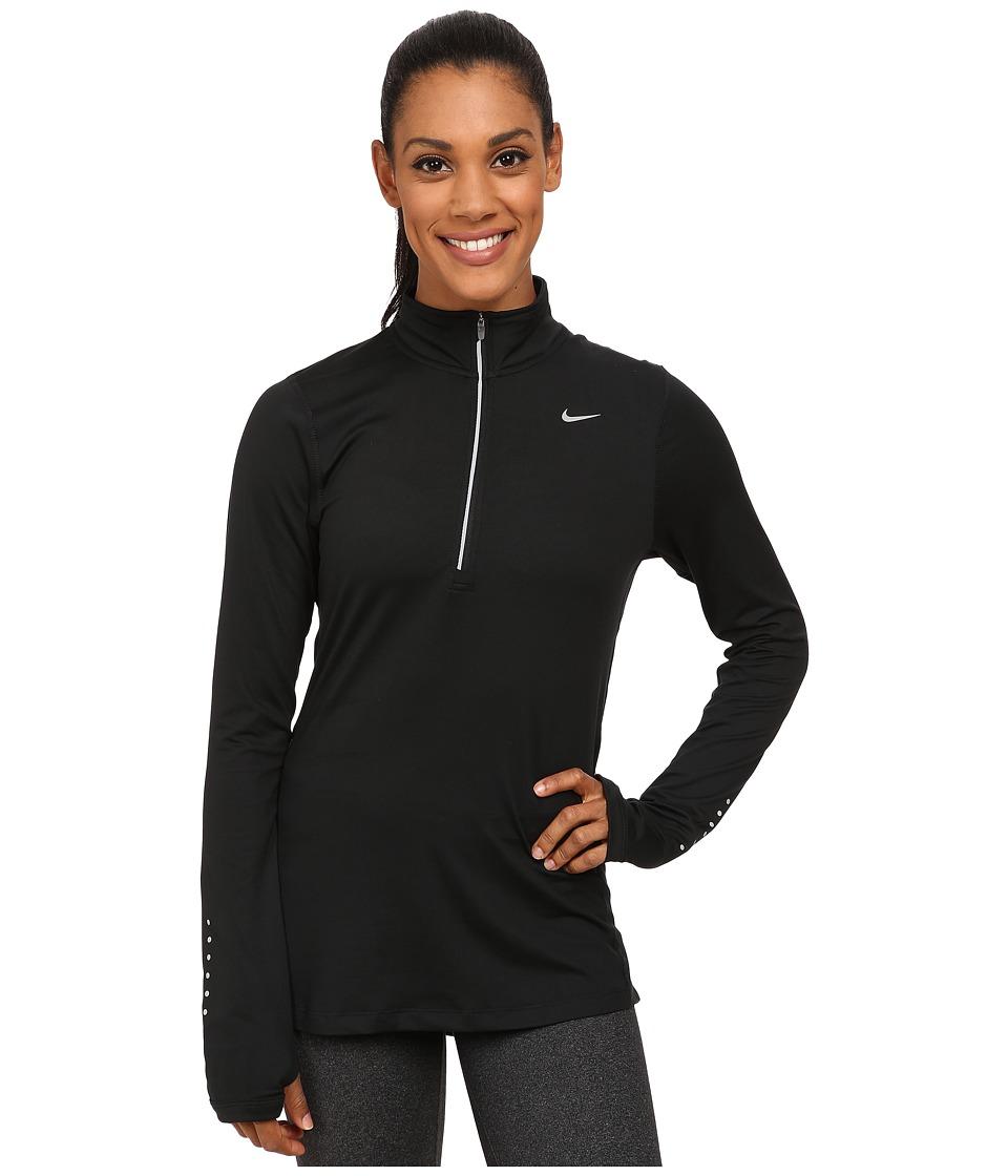 Nike - Dri-FITtm Element Half Zip (Black/Reflective Silver) Women's Long Sleeve Pullover