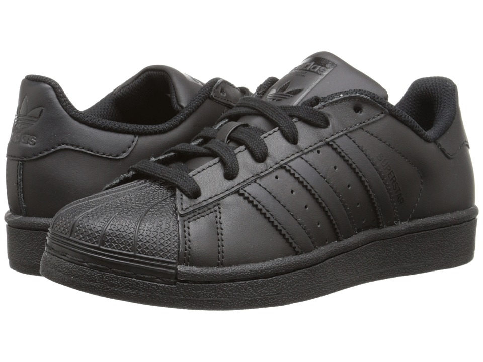 adidas Originals Kids - Superstar - Foundation (Big Kid) (Black/Black/Black) Kids Shoes