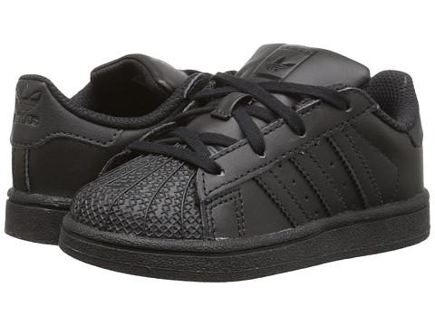 adidas Originals Kids Superstar (Infant/Toddler) - Black/Black/Black