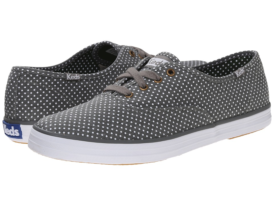 Keds Champion Micro Dot Gray Twill Womens Lace up casual Shoes