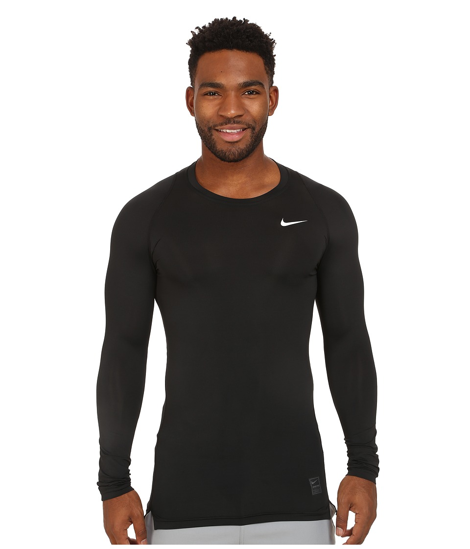 Nike Pro Cool Compression L/S (Black/Dark Grey/White) Men