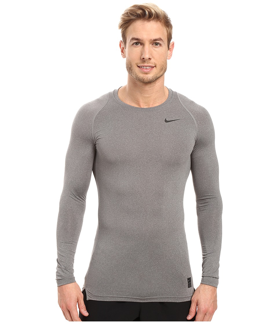 Nike Pro Cool Compression L/S (Carbon Heather/Black/Black) Men