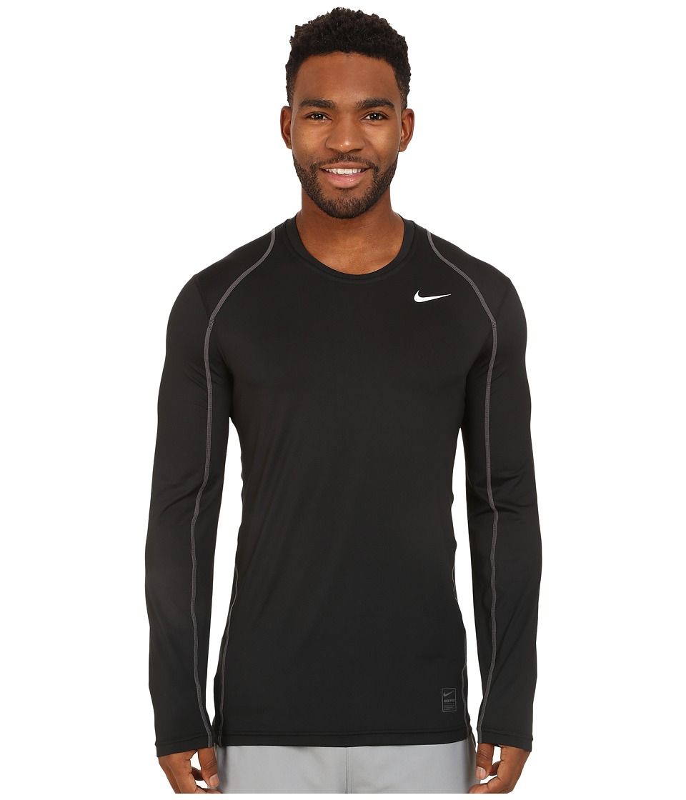 Nike Pro Cool Fitted L/S (Black/Dark Grey/White) Men