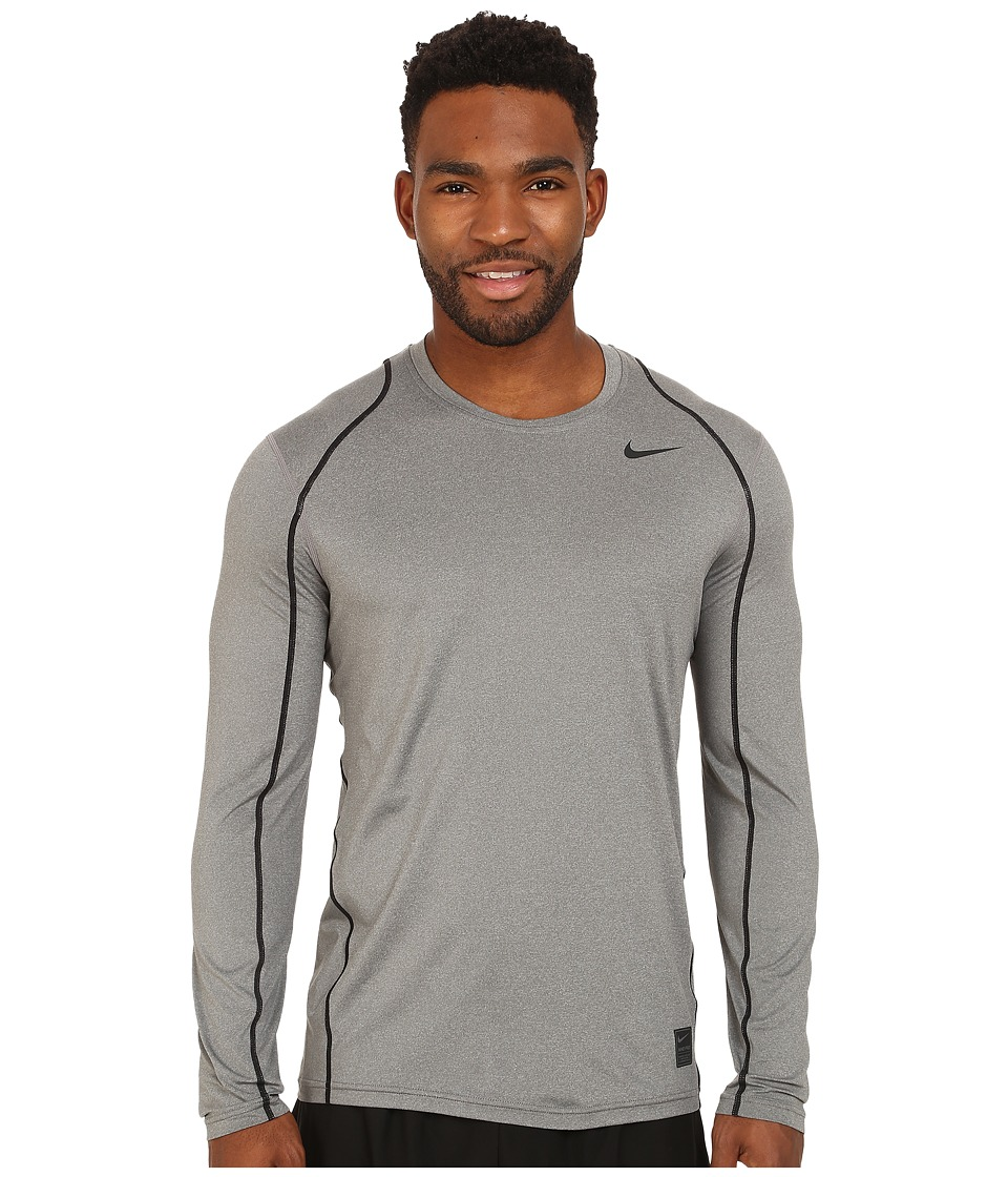 Nike Pro Cool Fitted L/S (Carbon Heather/Black/Black) Men