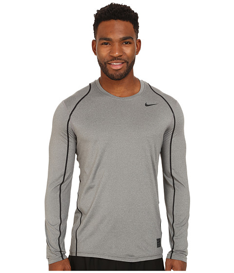Nike Pro Cool Fitted L/S - Carbon Heather/Black/Black