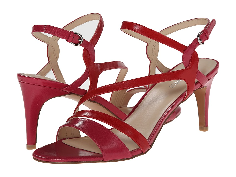 Nine West - Jarring (Pink/Red Leather) Women's 1-2 inch heel Shoes