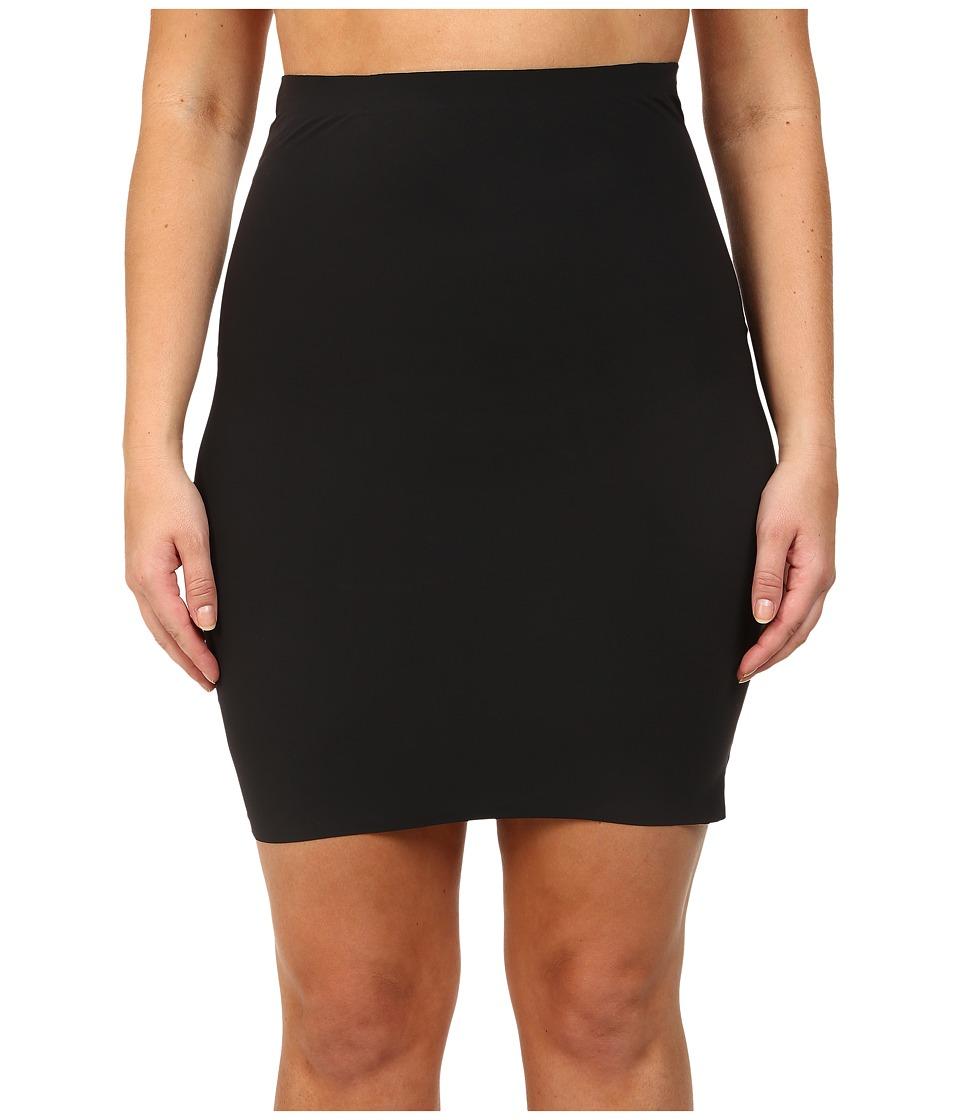 Yummie - Plus Size Yulia Skirt Slip (Black) Womens Lingerie
