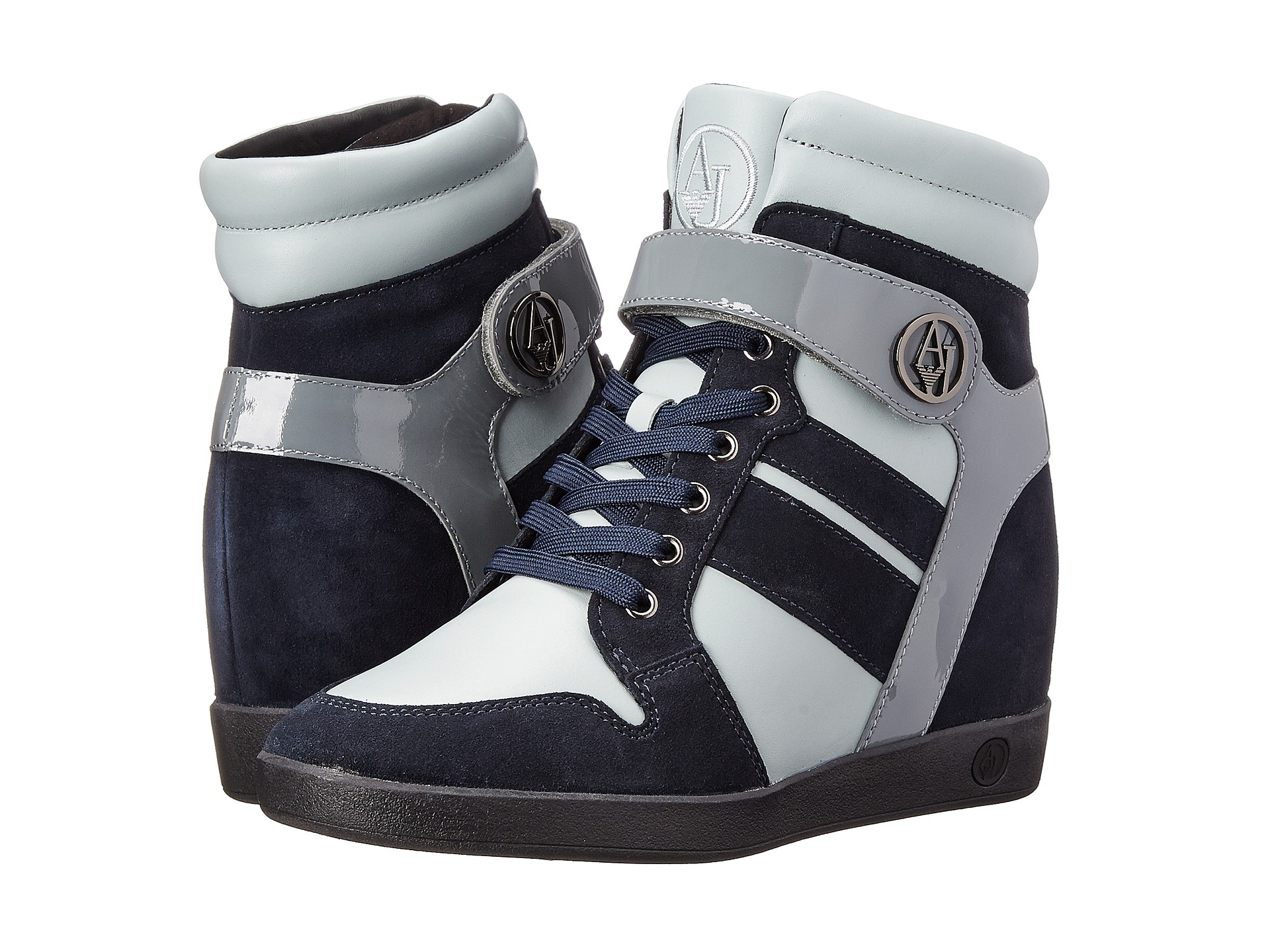 armani jeans wedge sneaker free shipping both ways. Black Bedroom Furniture Sets. Home Design Ideas