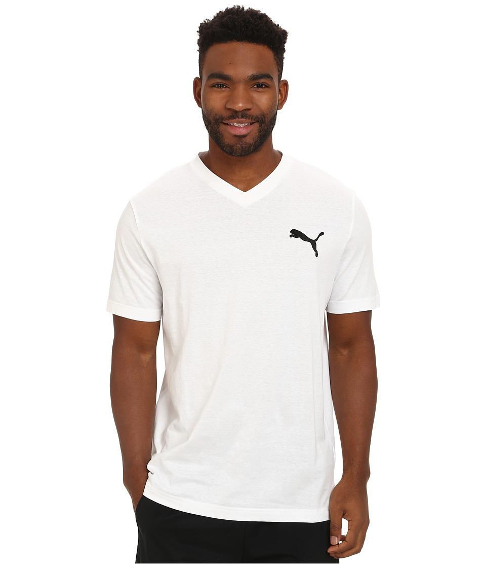PUMA - Ideal V Tee (White/Black) Men