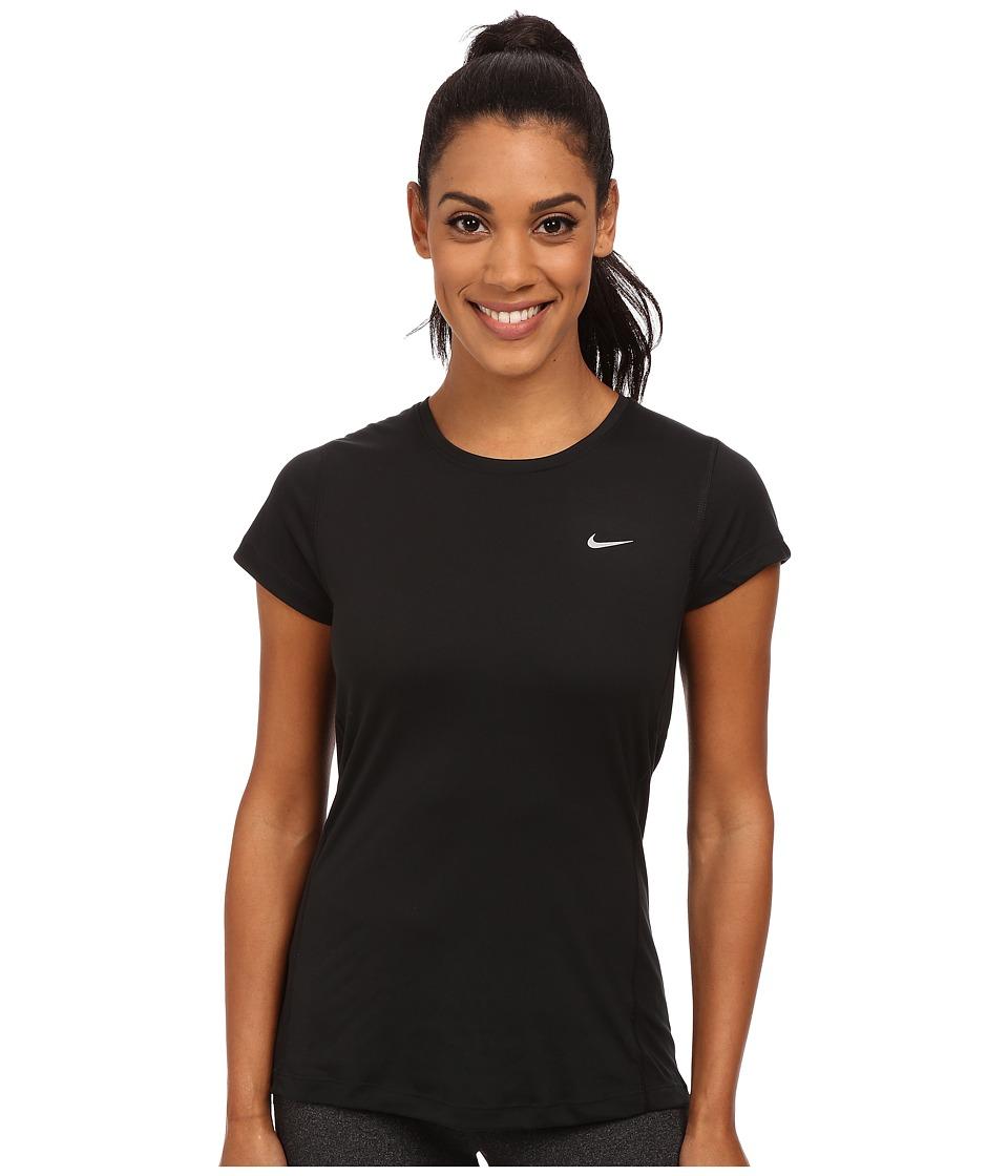 Nike Dri-FIT Miler Short Sleeve Top (Black) Women