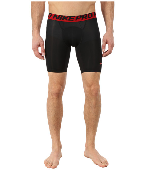 "Nike Pro Cool Compression 6"" Short - Black/Gym Red/Gym Red"