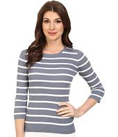Pendleton - 3/4 Sleeve Stripe Pullover