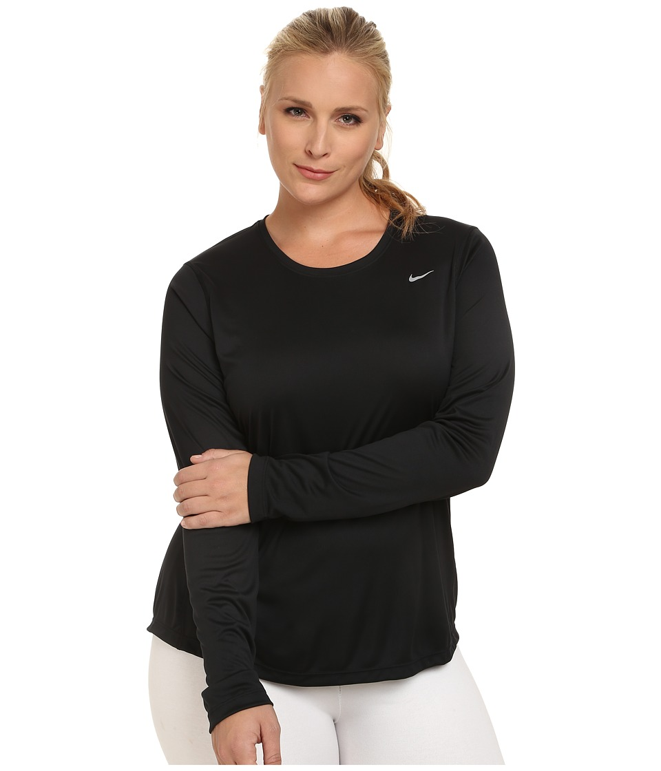 3208998 p 2x nike miler long sleeve running top (size 1x 3x) at zappos com,3x Womens Clothing