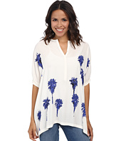 Karen Kane - Baby Placket Palms Tee