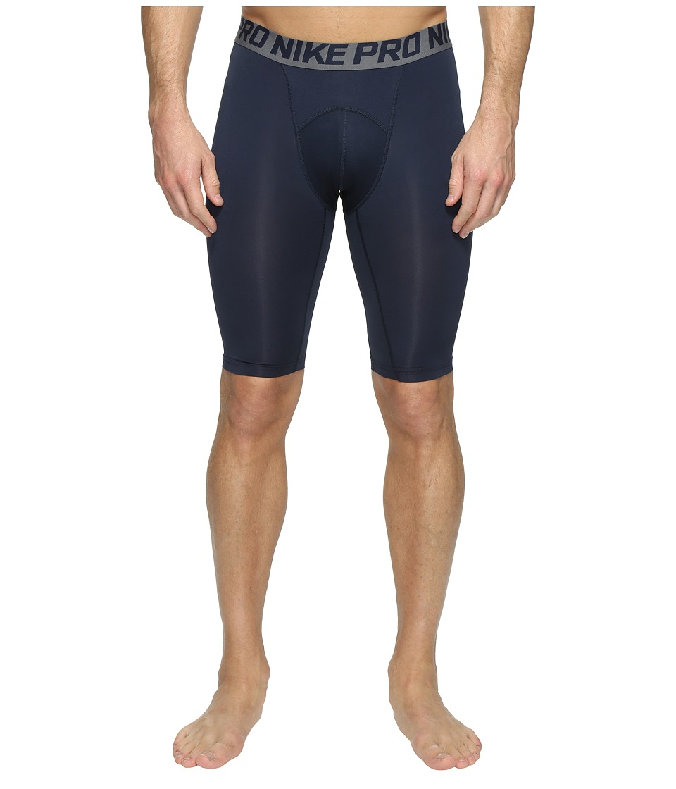 Nike Pro Cool Compression 9 Short (Obsidian/Dark Grey/White) Men
