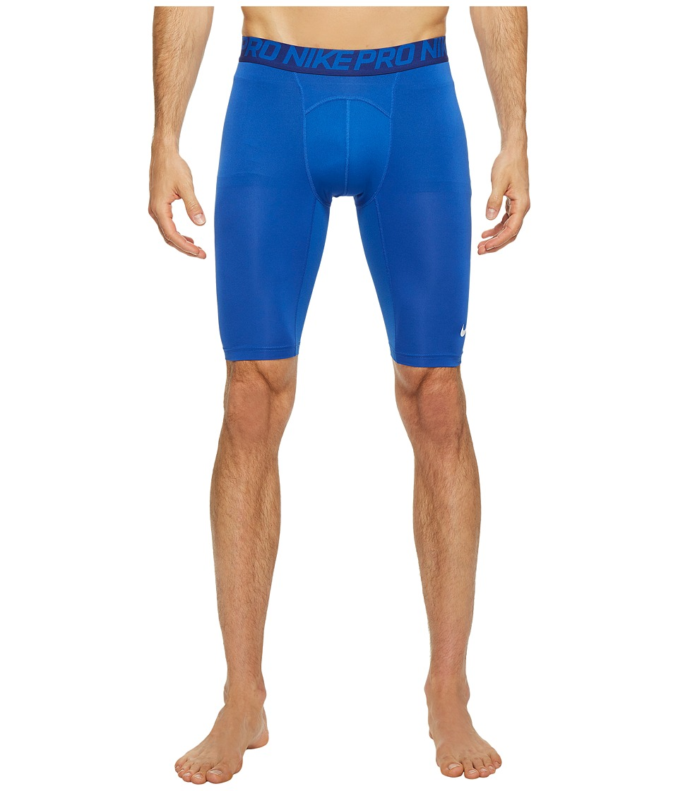 "Nike Pro Cool Compression 9"" Short (Game Royal/Deep Royal Blue/White) Men"