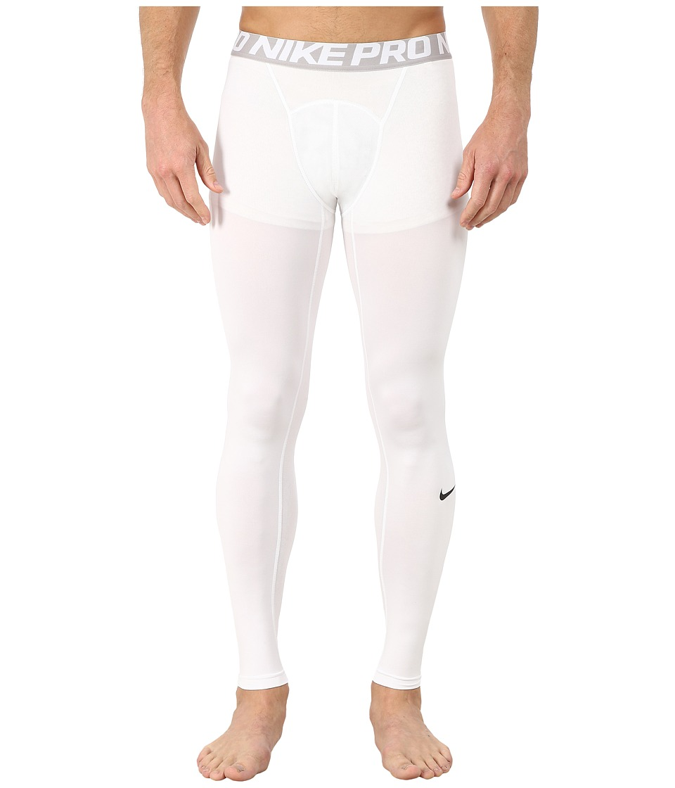 Nike Pro Cool Compression Tight (White/Matte Silver/Black) Men