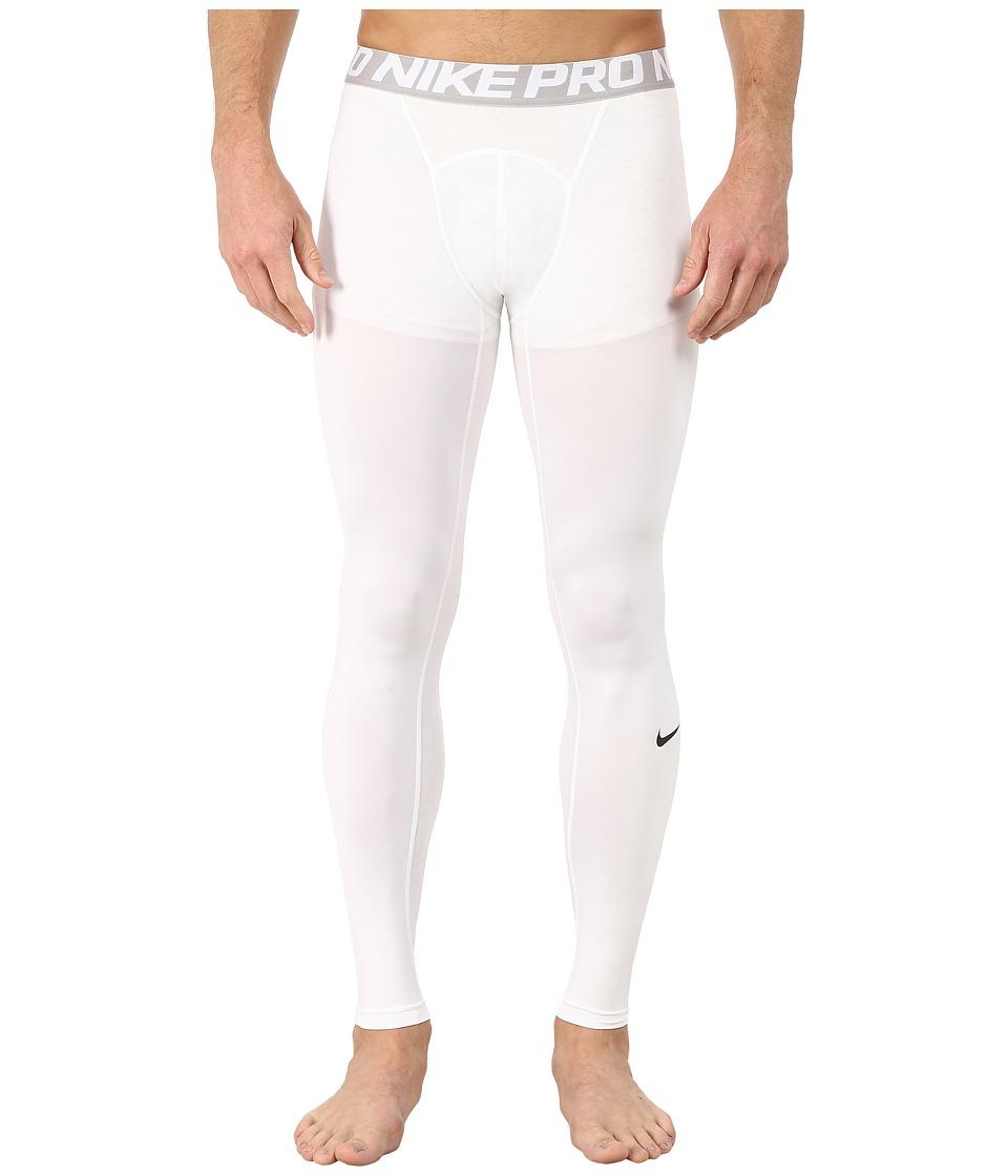 Nike Pro Cool Compression Tight (White/Matte Silver/Black) Men