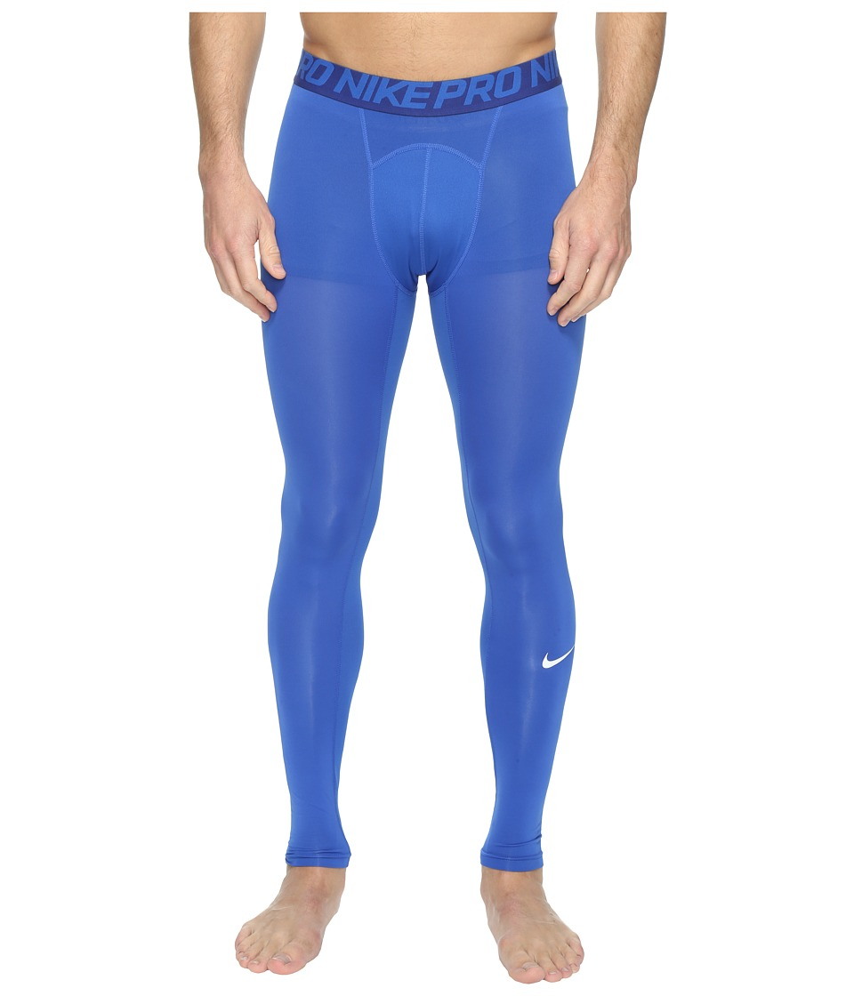Nike Pro Cool Compression Tight (Game Royal/Deep Royal Blue/White) Men
