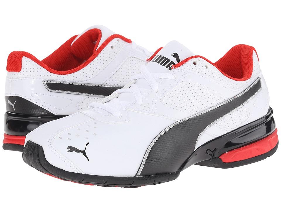 Puma Kids Tazon 6 SL (Little Kid/Big Kid) (White/Black/Puma Silver) Boys Shoes