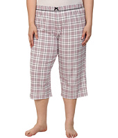 Karen Neuburger - Plus Size Le Boulevard Plaid Crop Pants