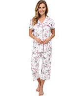 Karen Neuburger - White Hot Short Sleeve Girlfriend Crop PJ
