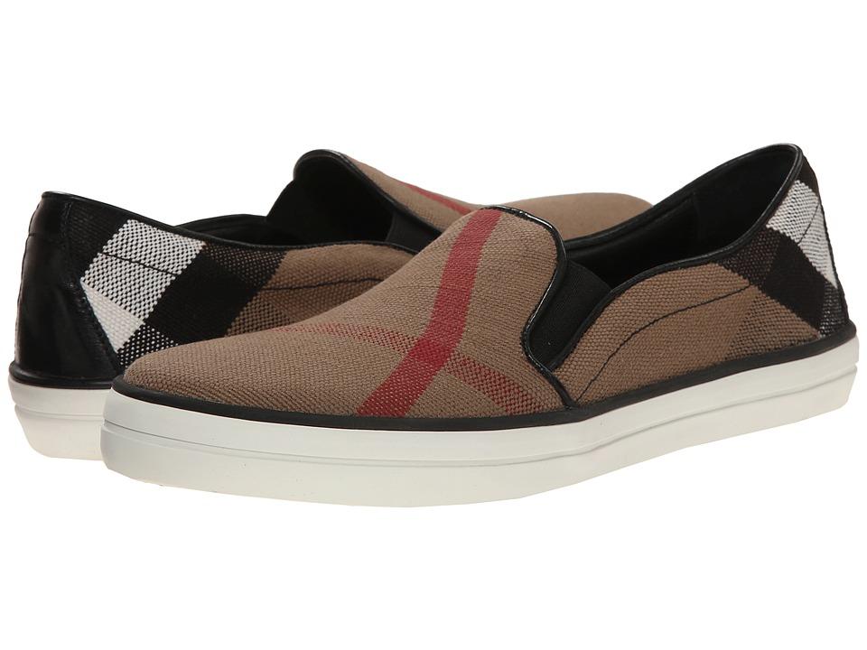 Burberry Gauden Black Womens Slip on Shoes
