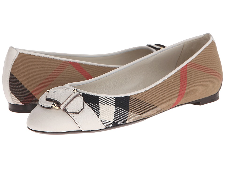 Burberry Lilyana Natural Womens Flat Shoes