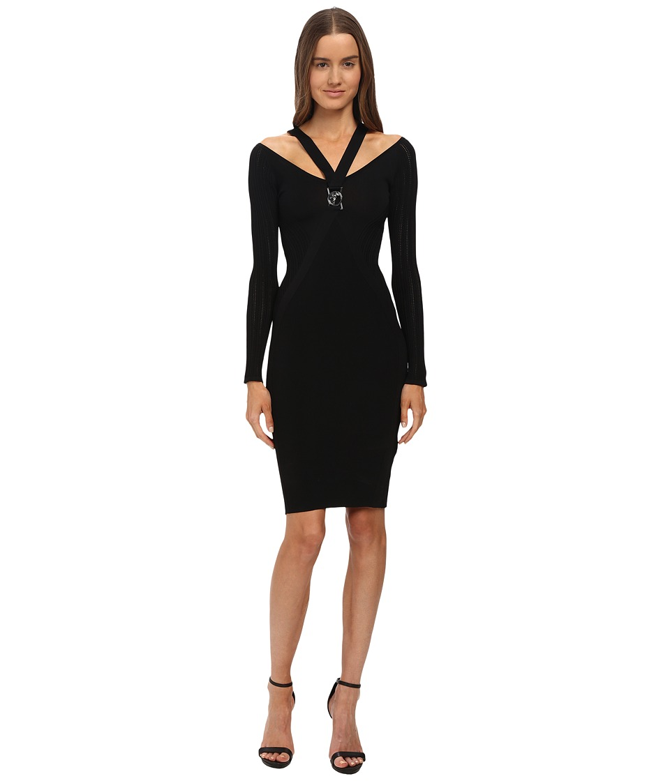 Versace Collection Knitted Dress Black Womens Dress