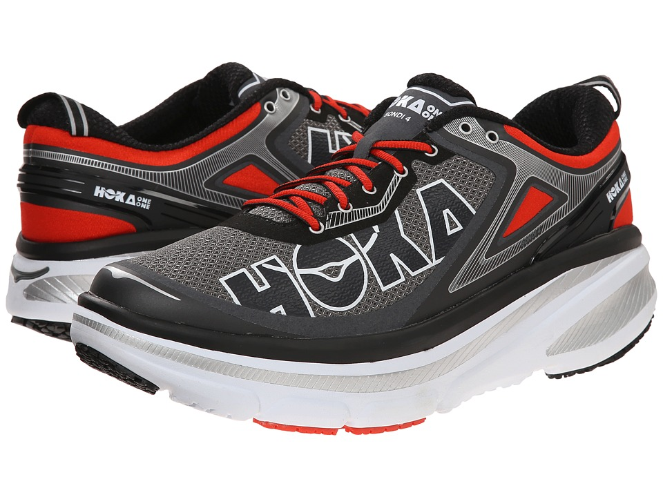 Hoka One One Bondi 4 Grey/Orange Flash Mens Running Shoes