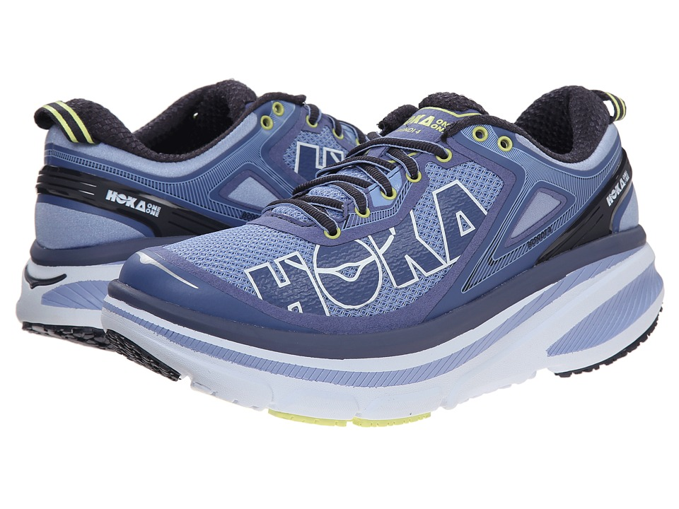 Hoka One One Bondi 4 Hydrangea/Sunny Lime Womens Running Shoes