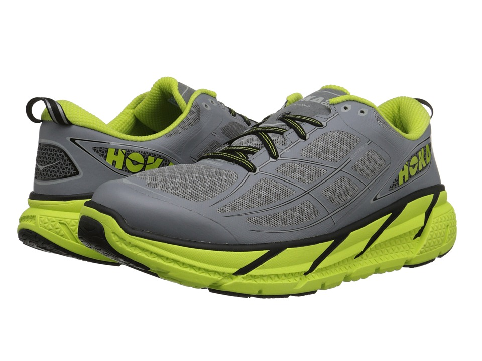 Hoka One One Clifton 2 Grey/Acid Mens Running Shoes